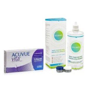Johnson & Johnson Acuvue Vita (6 čoček) + Solunate Multi-Purpose 400 ml s pouzdrem