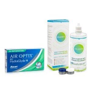 Alcon Air Optix Plus Hydraglyde for Astigmatism (3 čočky) + Solunate Multi-Purpose 400 ml s pouzdrem